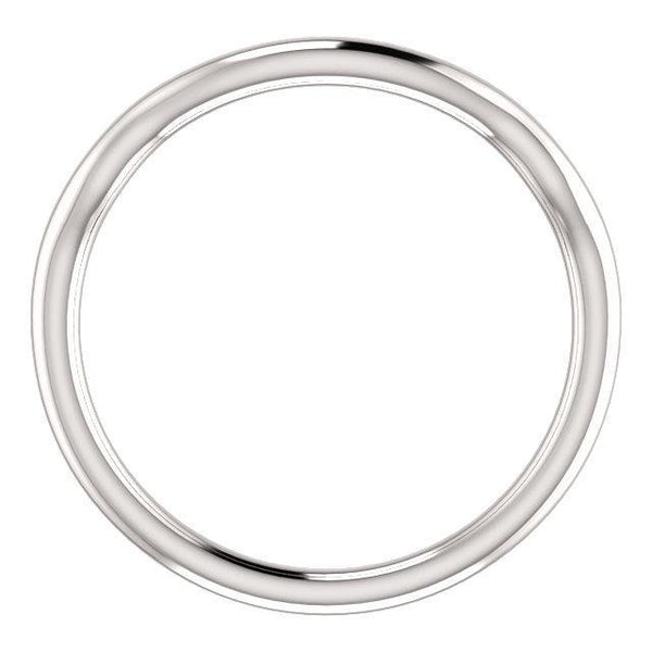 14K White Band for 6.5mm Round Ring
