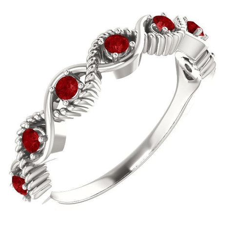Chatham® Created Gemstone Stackable Ring