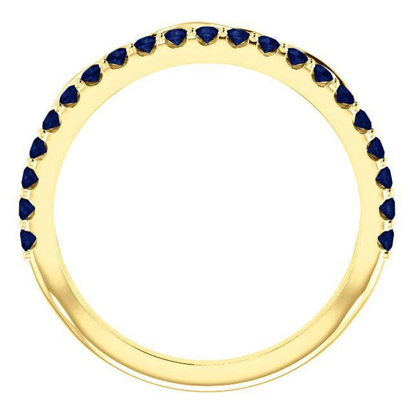 14K Blue Sapphire Infinity-Inspired Stackable Ring