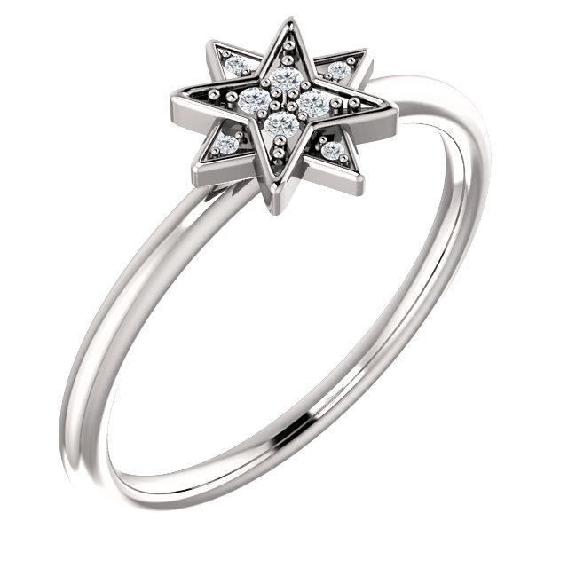 14K  Diamond Star Ring