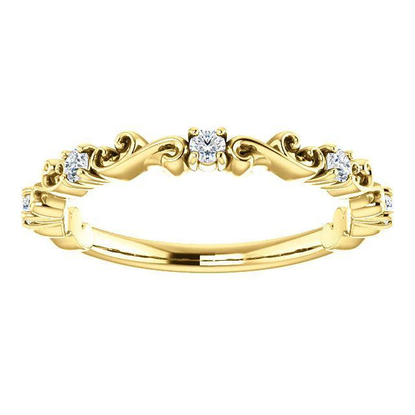 14K 1/6 CTW Diamond Sculptural-Inspired Anniversary Band
