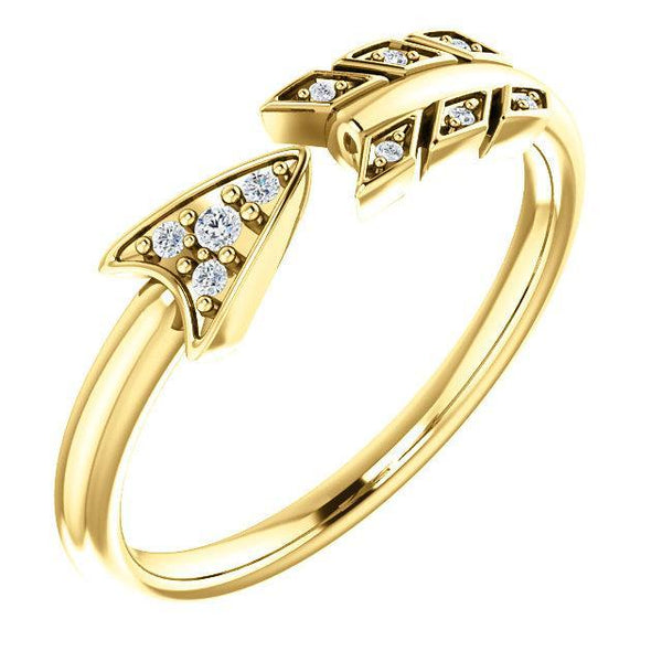 14K .04 CTW Diamond Arrow Ring