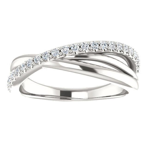 Diamond Criss-Cross Ring