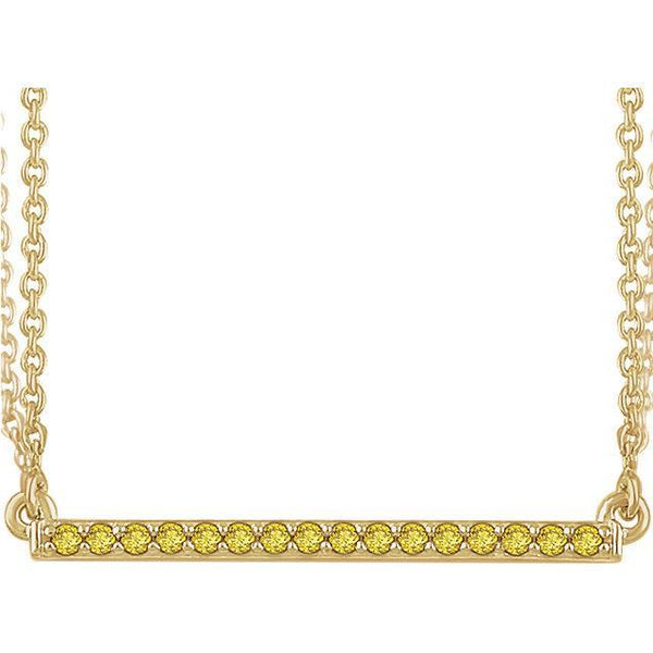 "14K 1/6 CTW Diamond Bar 18"" Necklace"