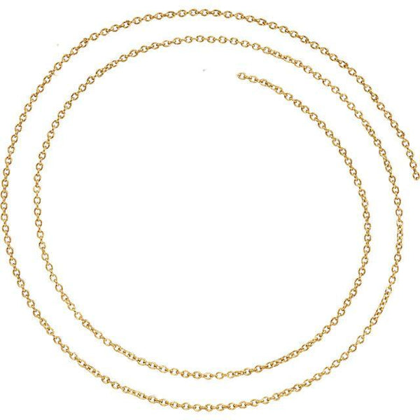 "1.5mm Solid Cable 18"" Chain"