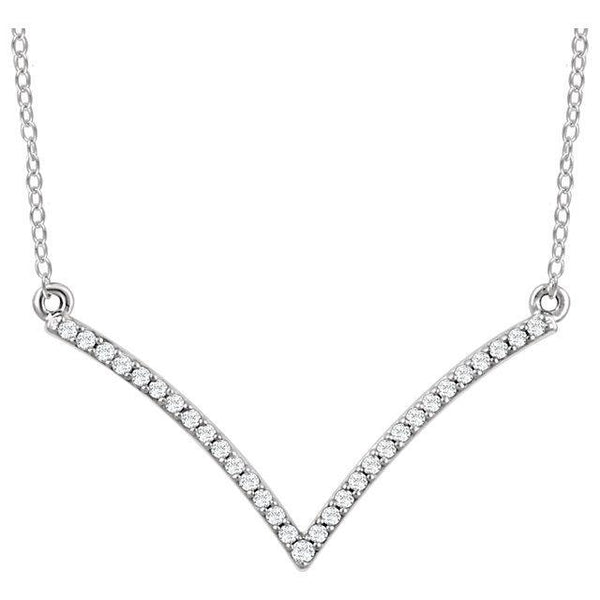 "14K 1/6 CTW Diamond ""V"" 18"" Necklace"