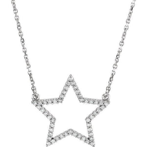 "14K 1/4 CTW Diamond Star 16"" Necklace"