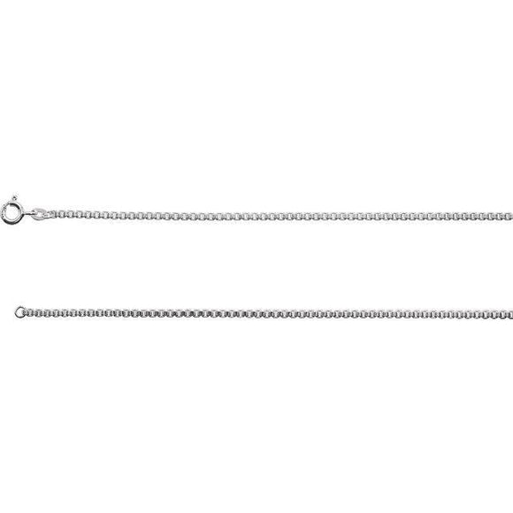 Sterling Silver 2mm Box Chain with Spring Ring Clasp