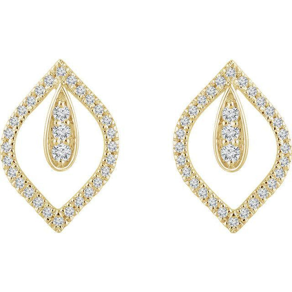 14K 1/4 CTW Diamond Teardrop Earrings