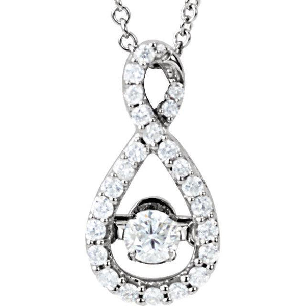 "14K White 1/3 CTW Diamond 18"" Mystara® Necklace"