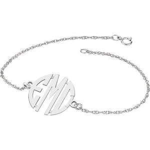 20mm 3-Letter Block Monogram Bracelet