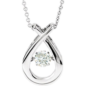 "14K White 3/8 CT Diamond 18"" Mystara® Necklace"