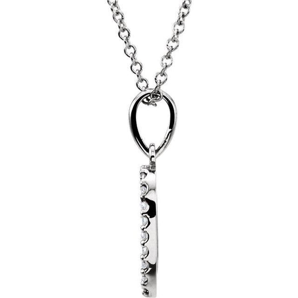 "14K 1/8 CTW Diamond 16"" Necklace"