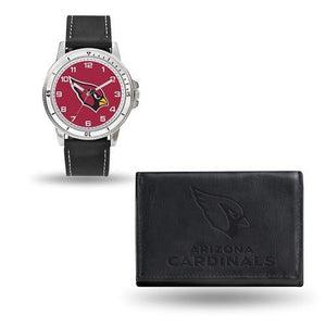 NFL Arizona Cardinals Leather Watch/Wallet Set By Rico Industries