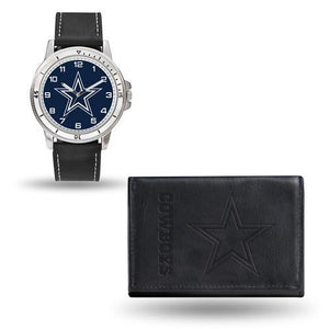NFL Dallas Cowboys Leather Watch/Wallet Set By Rico Industries
