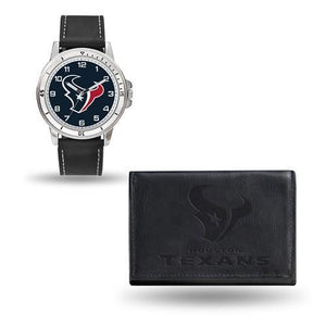 NFL Houston Texans Leather Watch/Wallet Set By Rico Industries