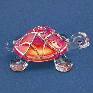 Sunrise Turtle Glass Figurine