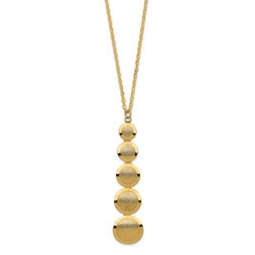 Leslie's 14K Polished And Brushed Necklace