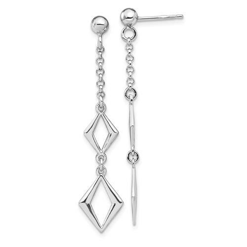 Leslie's Sterling Silver Rhodium-Plated Polished Earrings