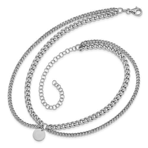Leslie's Sterling Silver Polished with 4 in ext. Choker Necklace