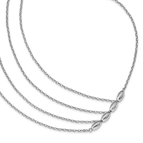 Leslie's Sterling Silver Polished Multi Strand Necklace