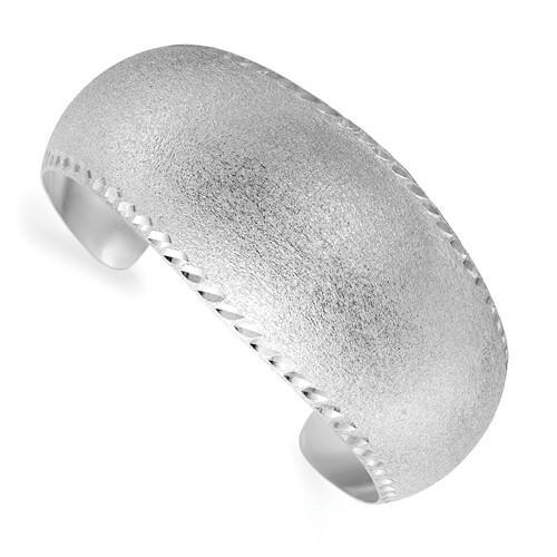 Leslie's Sterling Silver Radiant Essence D/C Cuff Bangle