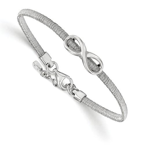 Leslie's Sterling Silver Infinity With 1in Ext. Bracelet