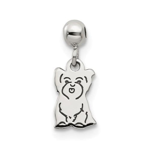 Sterling Silver Mio Memento Dangle Dog Charm