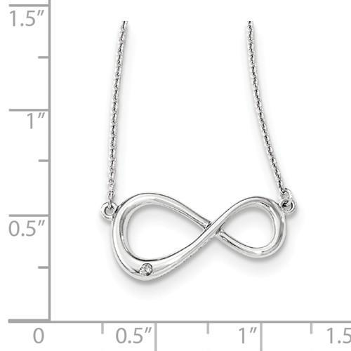 Sterling Silver White Ice Diamond Infinity Symbol Necklace