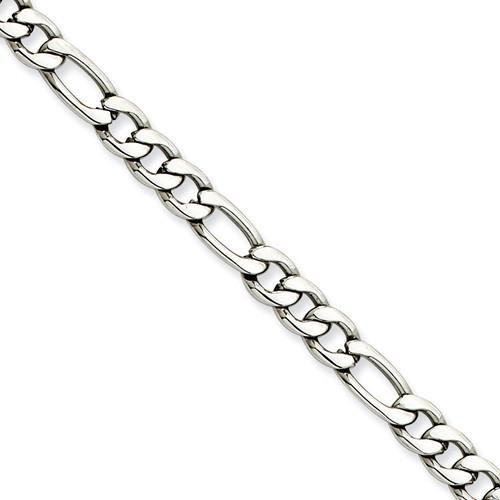 Stainless Steel 6.10mm 20in Figaro Chain