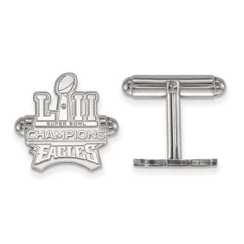 Sterling Silver Philadelphia Eagles Super Bowl LII Champions Cuff Link