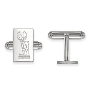Sterling Silver LogoArt 2017 NBA Championship Warriors Cuff Link
