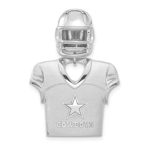 Sterling Silver Dallas Cowboys Jersey And Helmet Pendant