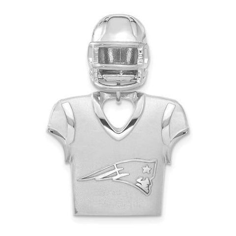 Sterling Silver New England Patriots Jersey And Helmet Pendant