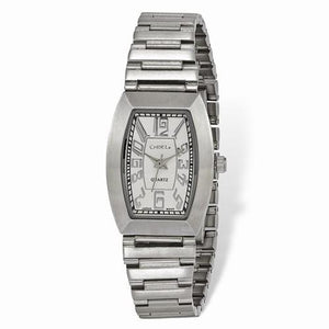 35c5ddf2e3016 Ladies Chisel Stainless Steel White Tonneau Dial Watch – Starving ...
