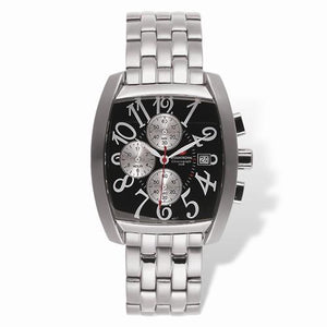 Mens Mountroyal Chronograph Stainless Steel Black Calendar Watch