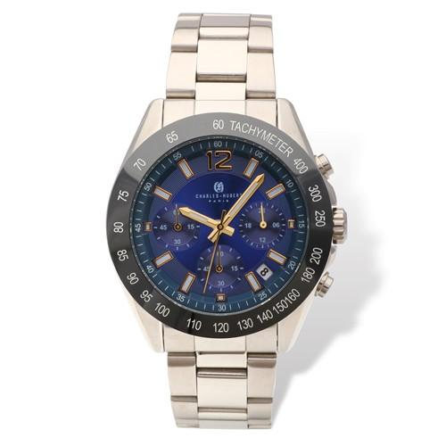 Mens Charles Hubert Blue Dial Chronograph Watch