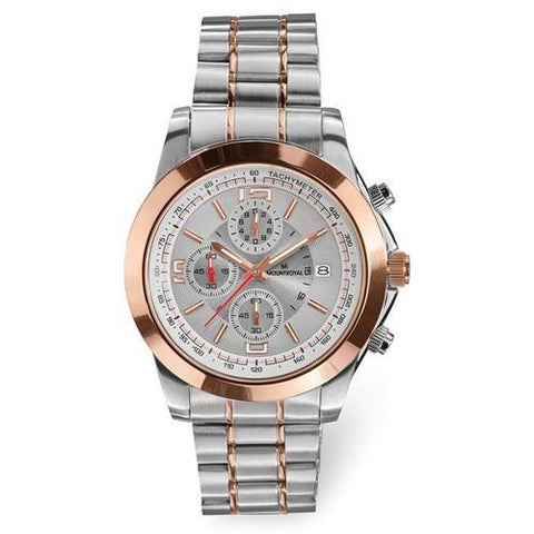 Mens Mountroyal Rose 2-Tone Stainless Steel Chronograph Watch