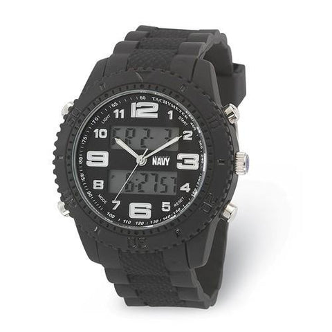 US Navy Wrist Armor C27 Black Silicone Strap Ana-Digital Watch