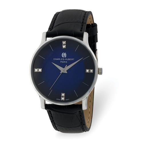 Charles Hubert Mens Stainless Steel Blue Dial Watch