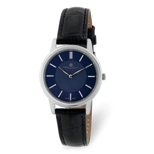Charles Hubert Ladies Stainless Steel Blue Dial Watch