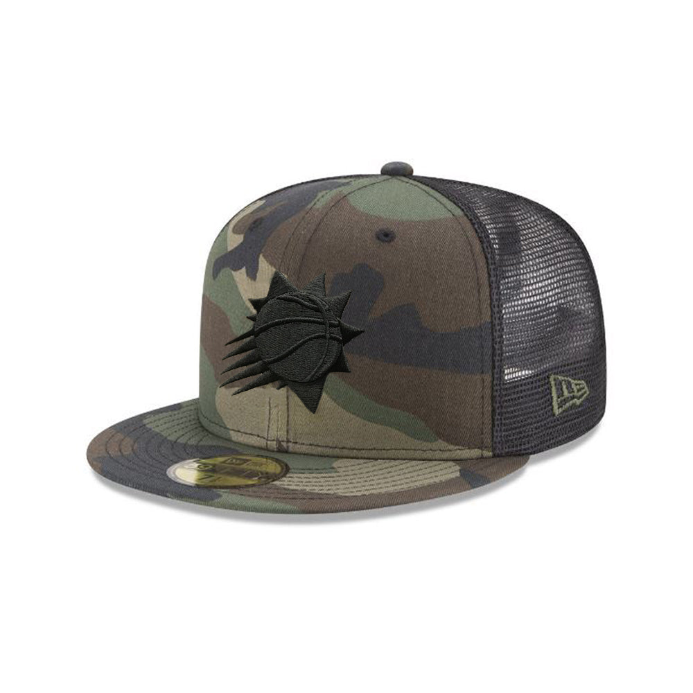 52f97d6731 NBA Phoenix Suns New Era Camo Front Black Trucker 59FIFTY - Camo –  Shop.Suns.com