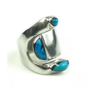 Turquoise Adjustable Inlaid Ring