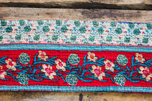 Recycled Sari Table Runner