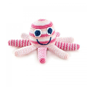 Pale Pink Octopus Rattle
