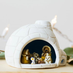 Igloo Ceramic Nativity