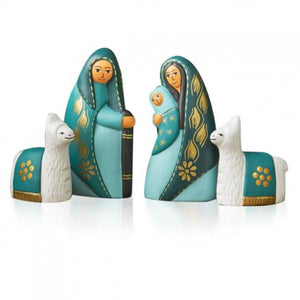 Tranquil Teal Nativity