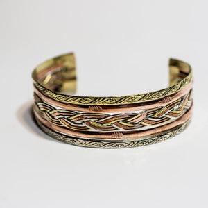 Mixed Metal Braided Beauty Cuff