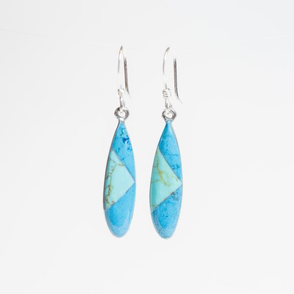 Elena Earrings - Double Turquoise