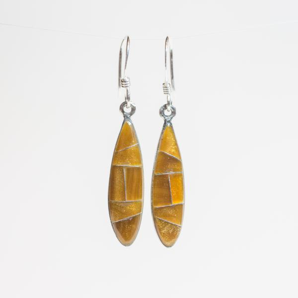 Elena Earrings - Golden Tiger's Eye